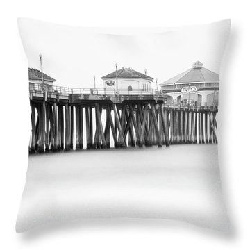 Huntington Beach Pier In June  Throw Pillow by Bryan Keil