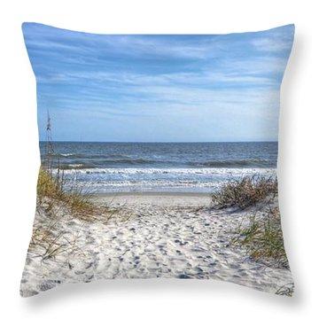 Huntington Beach South Carolina Throw Pillow by Kathy Baccari