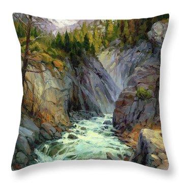 Hurricane River Throw Pillow