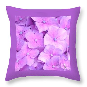 Hydragea  Throw Pillow