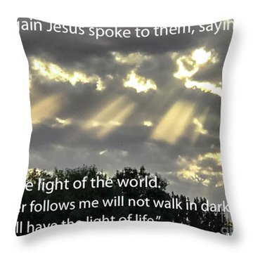 I Am The Light  Throw Pillow
