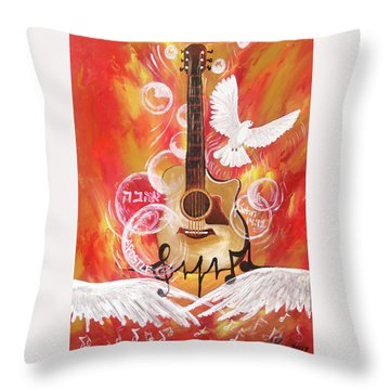 I Can Hear The Sound Throw Pillow