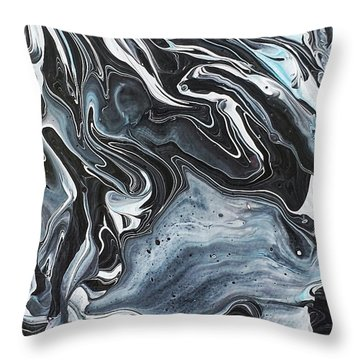 I Know It Looks Like Marble Throw Pillow