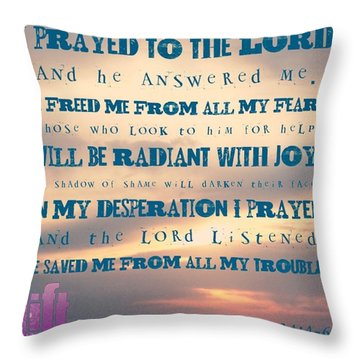 I Will Praise The Lord At All Times.  I Throw Pillow