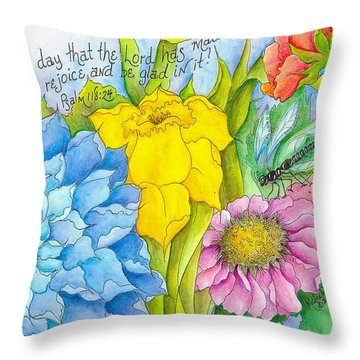 I Will Rejoice Throw Pillow