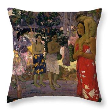 Ia Orana Maria Hail Mary Throw Pillow