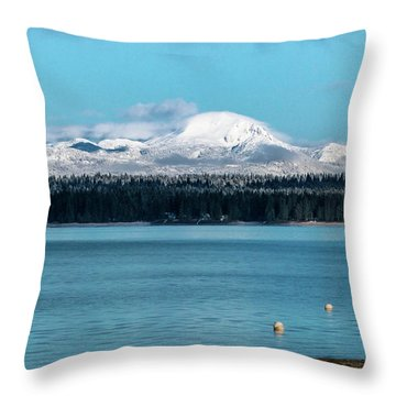Icing On The Mountain Throw Pillow