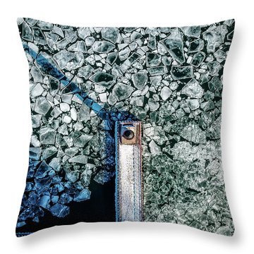 Throw Pillow featuring the photograph Icy Beacon by Randy Scherkenbach