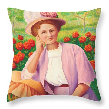 Ida In The Garden Throw Pillow