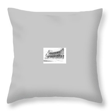 Idaho Hotel Silver City Ghost Town Idaho Throw Pillow by Kevin Heaney