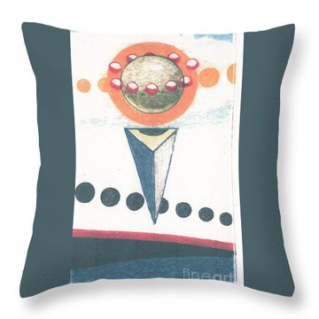 Throw Pillow featuring the drawing Idea Ismay by Rod Ismay