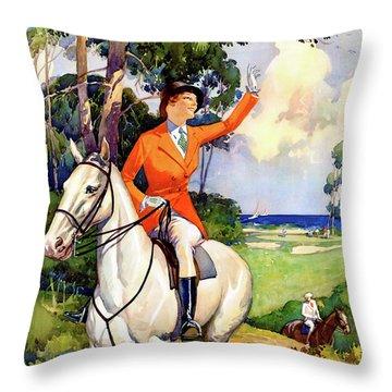 Illinois Mississippi Restored Vintage Poster Throw Pillow by Carsten Reisinger