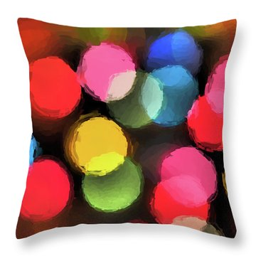 Throw Pillow featuring the digital art Illumination by Tom Druin