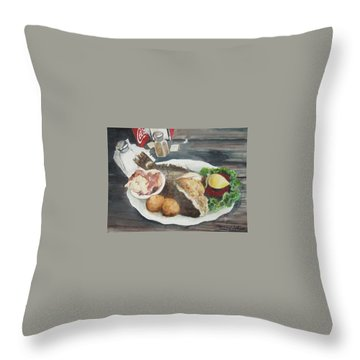 I'm Stuffed Throw Pillow