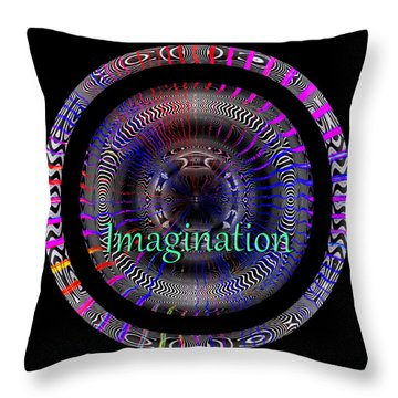 Throw Pillow featuring the digital art Imagination by Visual Artist Frank Bonilla