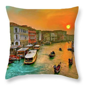 Imbarcando. Venezia Throw Pillow