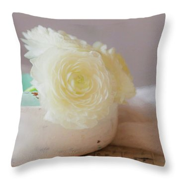 Throw Pillow featuring the photograph In A White Bowl by Kim Hojnacki