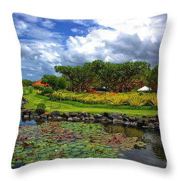 In Bali Throw Pillow by Charuhas Images