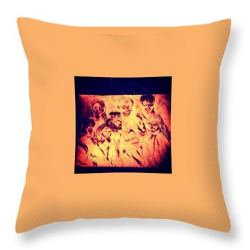 In Heaven With Jesus Throw Pillow