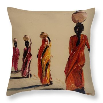 In Search Of Water. Throw Pillow