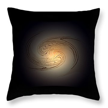 In The Beginning Throw Pillow by Don Quackenbush