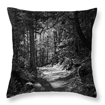 Throw Pillow featuring the photograph In The Forest by Cendrine Marrouat