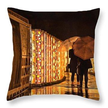 In The Kimono Forest Throw Pillow