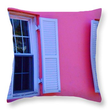 In The Pink Throw Pillow by Debbi Granruth