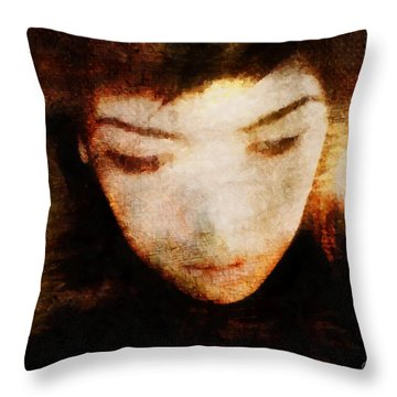 Throw Pillow featuring the digital art In Thoughts by Gun Legler