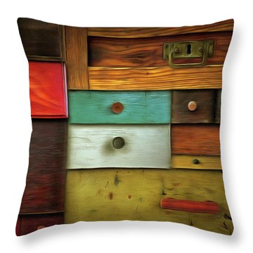 In Utter Secrecy - Various Drawers Throw Pillow