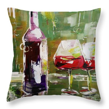 In Vino Veritas. Wine Collection Throw Pillow