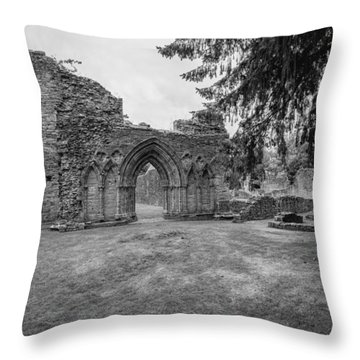 Inchmahome Priory Throw Pillow by Jeremy Lavender Photography