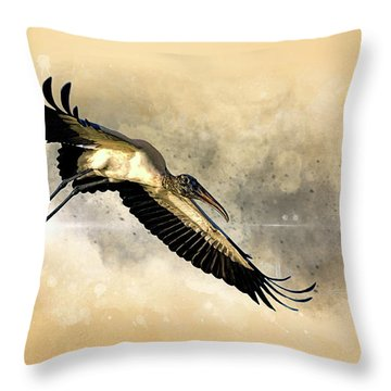 Incoming Throw Pillow by Cyndy Doty