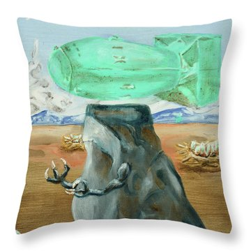 Incubator Of Anxiety Throw Pillow