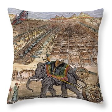 India: Sepoy Mutiny, 1857 Throw Pillow by Granger