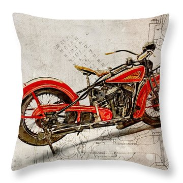 Indian Chief 1935 Throw Pillow