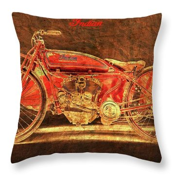 1920 Indian Daytona Racer Sidecar Throw Pillow