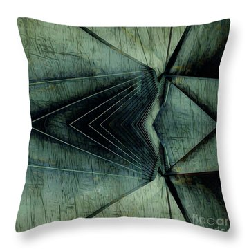 Industrial Bridge Grey Throw Pillow