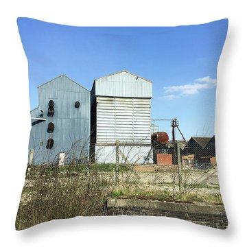 Industrial Buildings Throw Pillow