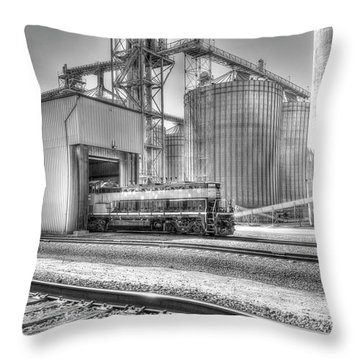 Throw Pillow featuring the photograph Industrial Switcher 5405 by Jim Thompson