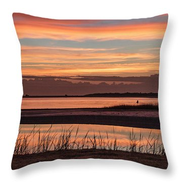 Inlet Watch Sunrise Throw Pillow