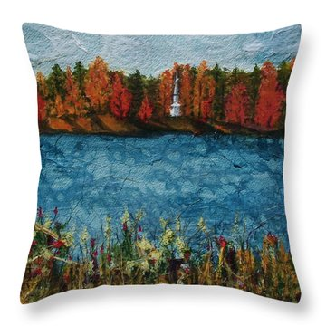 Institute Park Worcester Ma Throw Pillow by Lynn Babineau