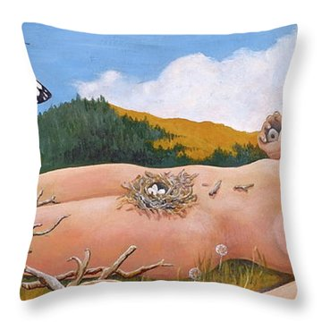 Integration Throw Pillow by Sheri Howe