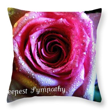 Intense Rose Throw Pillow by Shirley Sirois