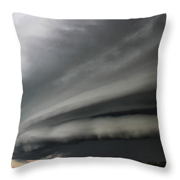 Intense Shelf Cloud Throw Pillow