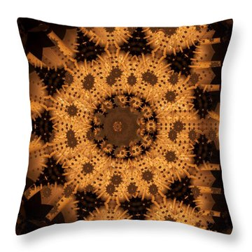 Throw Pillow featuring the digital art Interaction by Ron Bissett
