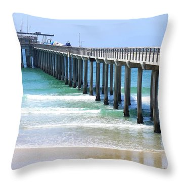 Into The Ocean Throw Pillow