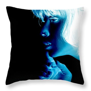 Inverted Realities - Blue  Throw Pillow