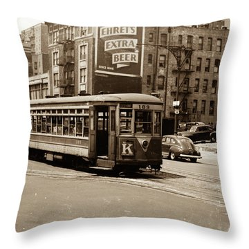Inwood Trolley Throw Pillow