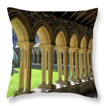 Iona Abbey Scotland Throw Pillow by Jacqi Elmslie